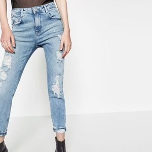 ISO Zara Distressed Slouchy Jeans Size 6 WANTED
